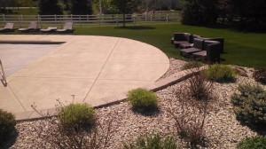 Johnson Pool Deck Before Topical Sealing